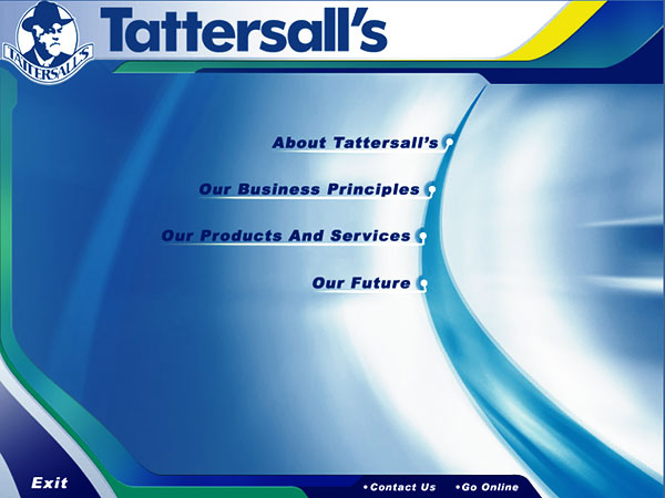 Tattersall's Interactive disc by Wayne Tindall, Chaotica Pty Ltd
