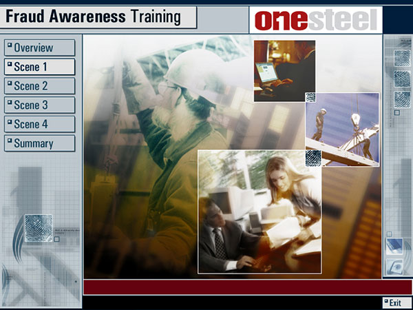 Online Training developed for Ernst & Young for Onesteel by  Wayne Tindall, Chaotica Pty Ltd