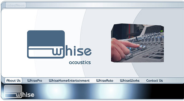 Website for Whise by  Wayne Tindall, Chaotica Pty Ltd